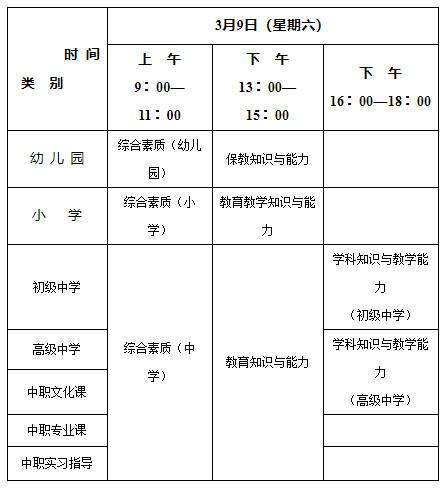 2019年上半年教师资格证考试公告|报名时间汇