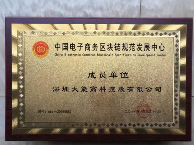 """赢势而行·逐梦蓝海,大能高科控股喜获""""中国区块链经济研究院""""成员单位殊荣"""