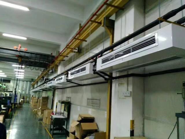 扬子江空调卧式明装风机盘管安装现场