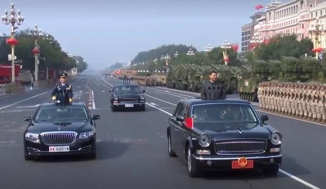 国家主席车牌车牌号_阅兵检阅车又见红旗,1949和2019车牌号有讲究_手机搜狐网