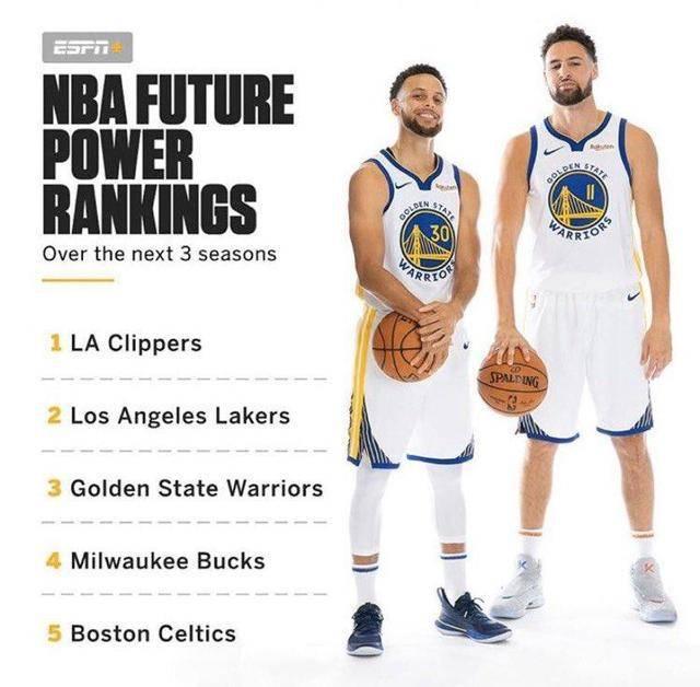 美媒预测未来三赛季球队实力:快船第一,湖人