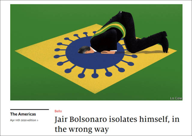 <strong>经济学人:仍有四国领导人低估疫情,巴西总统</strong>