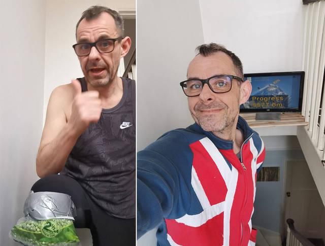 英国男子在家挑战爬楼8850米 高度超珠穆朗玛峰