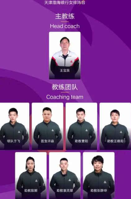 王宝泉再度任天津女排主教练 前国手殷娜成助理