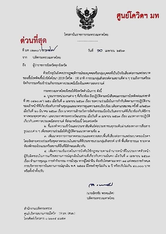 """泰国政府加强泰历新年""""泼水节""""疫情防控措施"""