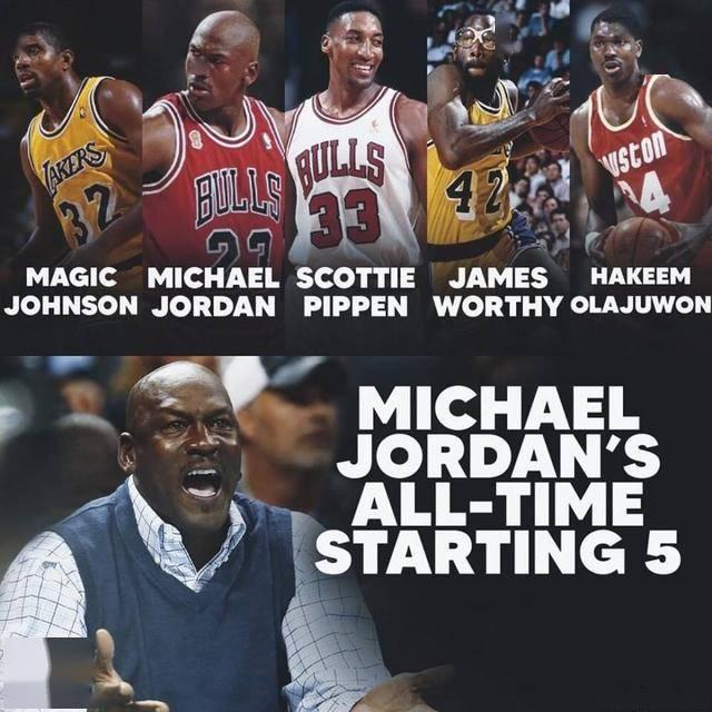"""乔丹目中无""""詹""""?评NBA历史最佳阵容无视詹姆"""