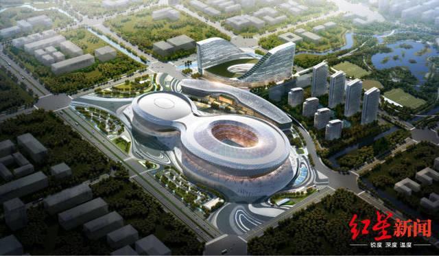 凤凰山体育公园专业足球场封顶,国内首创大开