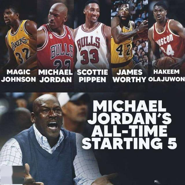 乔丹评选NBA联盟历史最强阵:自己领衔,科比、