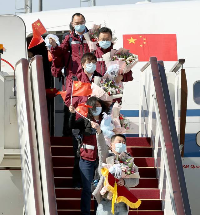 最后一支撤离武汉的援鄂抗疫国家队返京