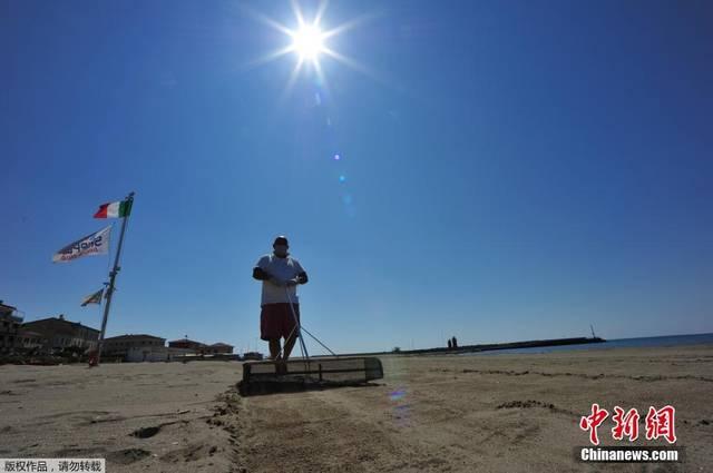 """意大利将进入抗疫""""第二阶段"""" 海滩度假区准备"""