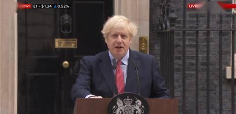 约翰逊病愈后首次公开亮相:感谢拉布,感谢英国民众