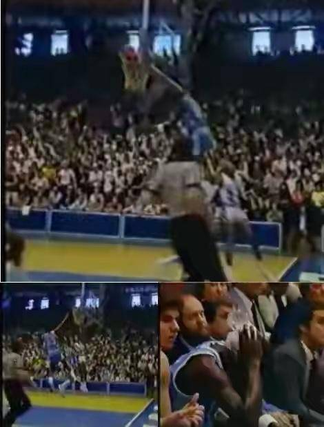 NBA唯一指定飞人!乔丹追帽跳太高,后脑勺直接
