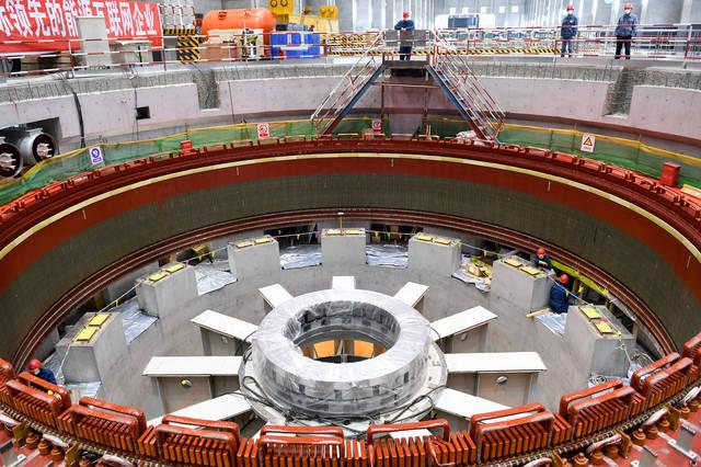 吉林丰满水电站4号机组投产发电