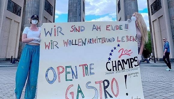 无视20人以上集会禁令,柏林千人参加劳动节游行