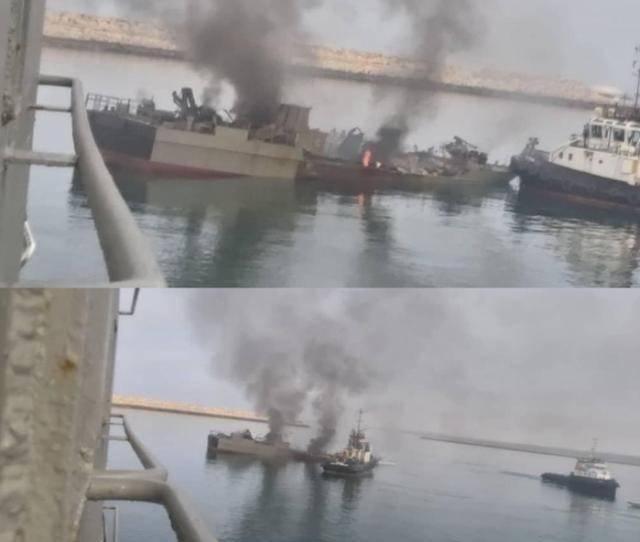 很惨!伊朗海军导弹艇被自己人发射导弹击中,艇体上层部位全毁了